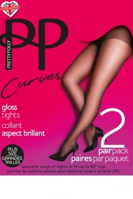 Curves Gloss Tights 2Pair Pack
