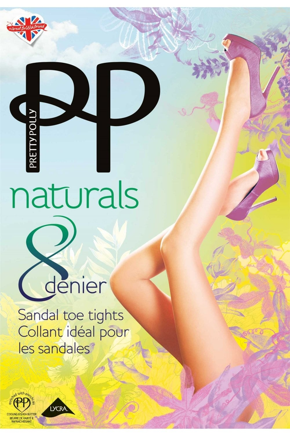 505c0917869 Naturals 8 Denier Sandal Toe Tights · Pretty Polly ...
