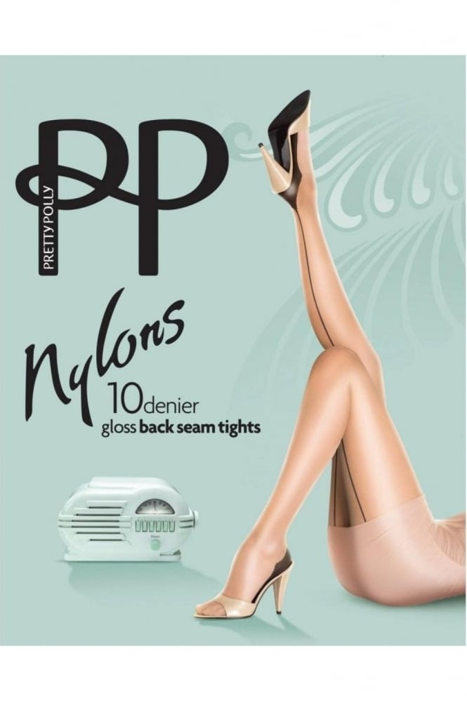 Pretty Polly Nylons 10 Denier Gloss Back Seam Tights