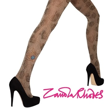 Win a pair of Jewel Peacock Tights SIGNED by Designer Zandra Rhodes