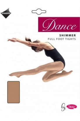 Dance Tights Full Foot Shimmer - Girls Sizes