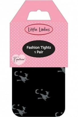 Little Ladies Glitter Witches Tights
