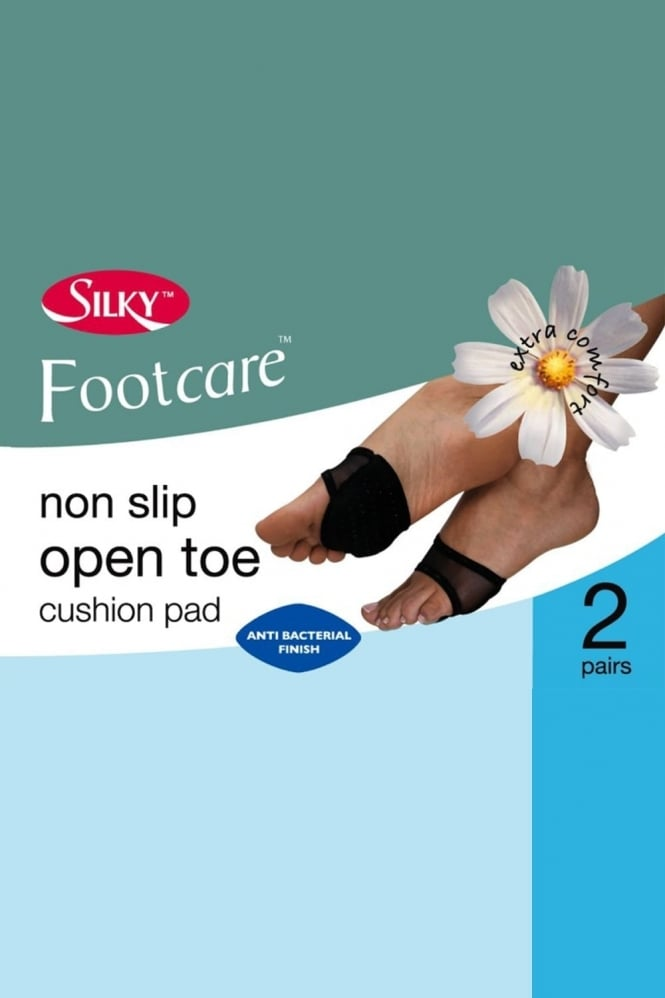 Silky Non Slip Open Toe Cushion Pad 2 Pair Pack