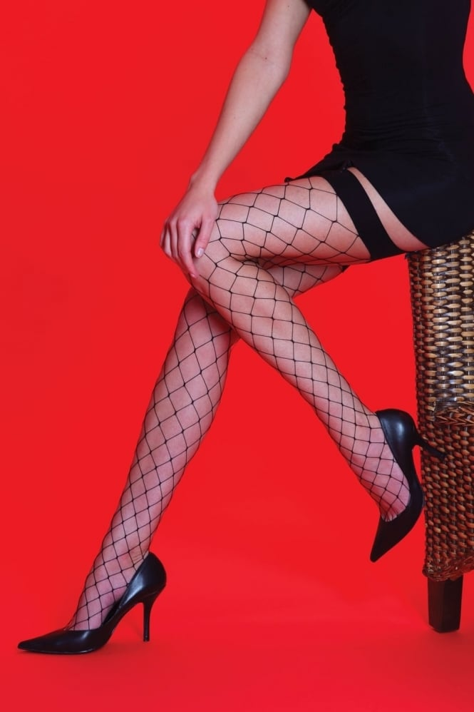 Silky Whale Net Plain Top Stockings