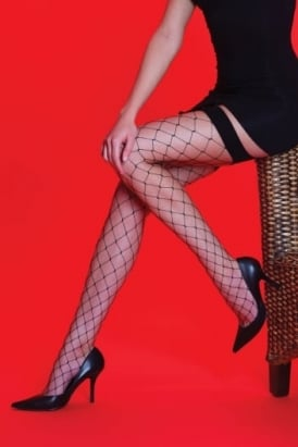 Whale Net Plain Top Stockings